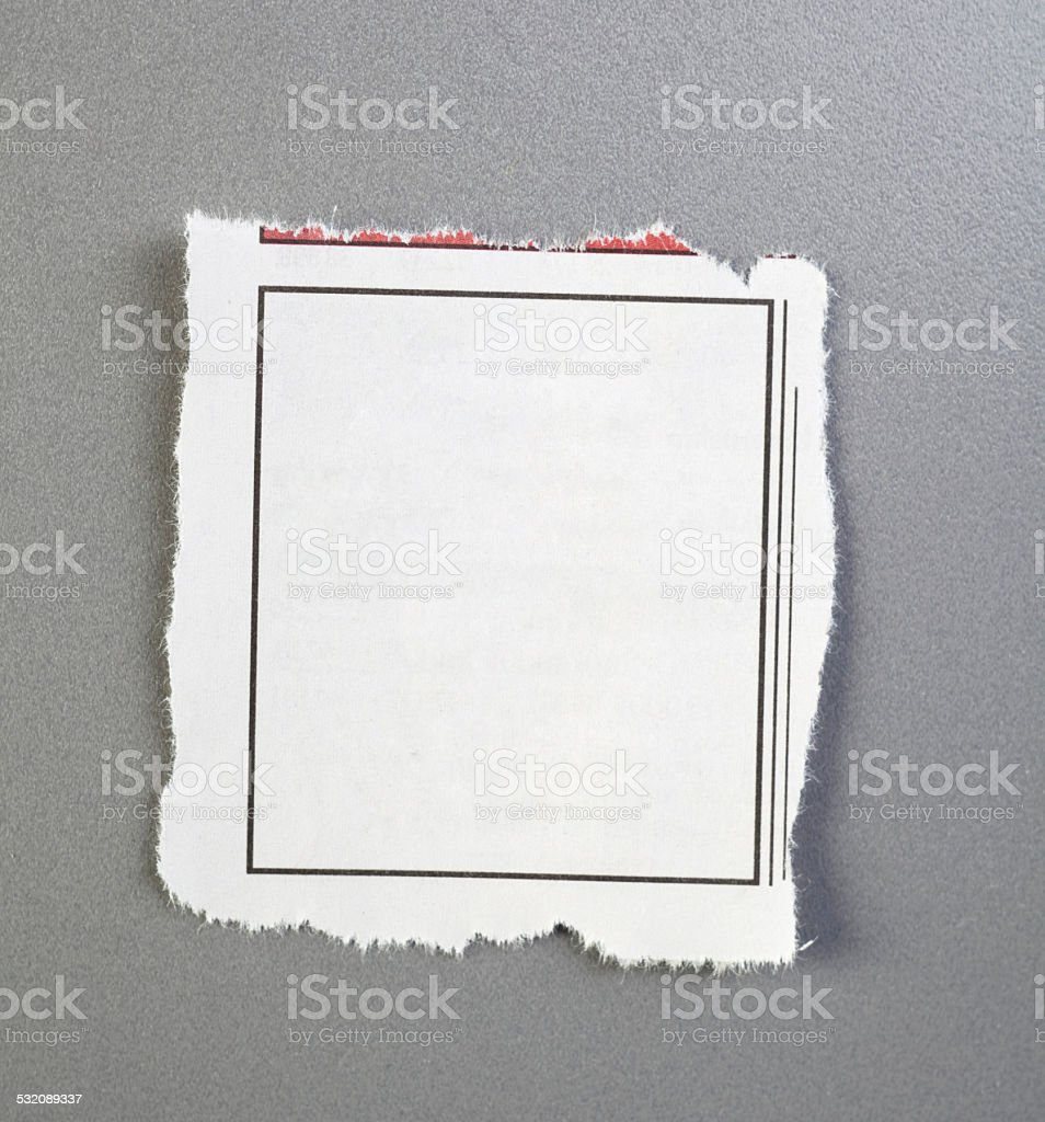 empty newspaper advertisement stock photo