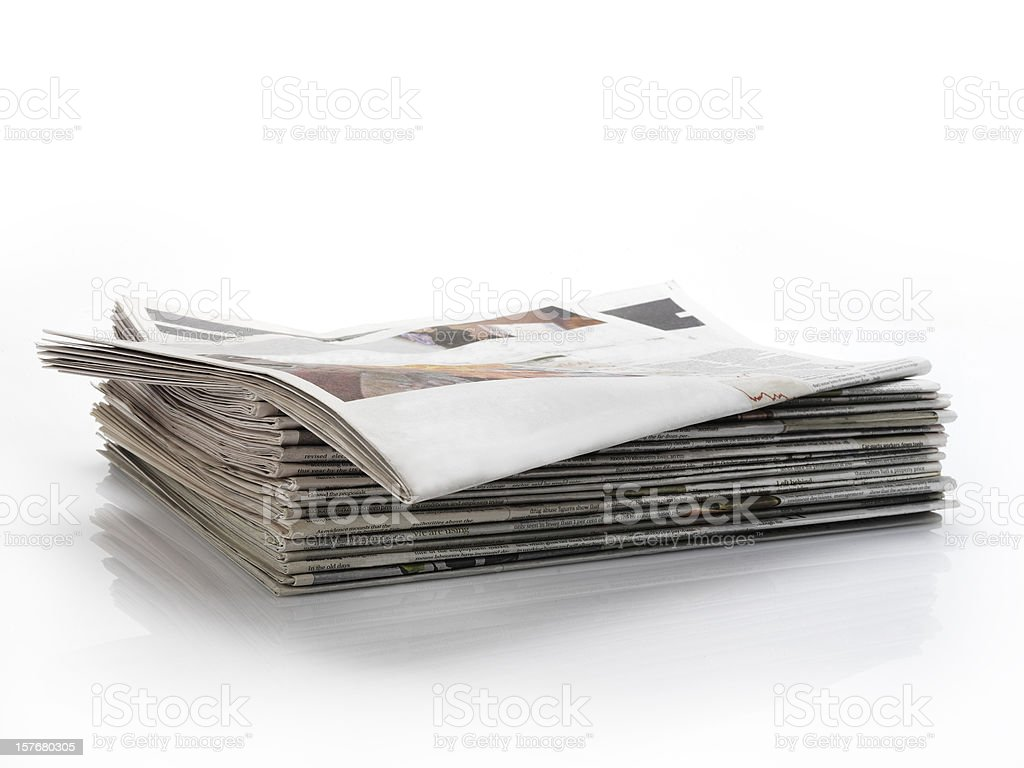 empty newspaper headline stock photo