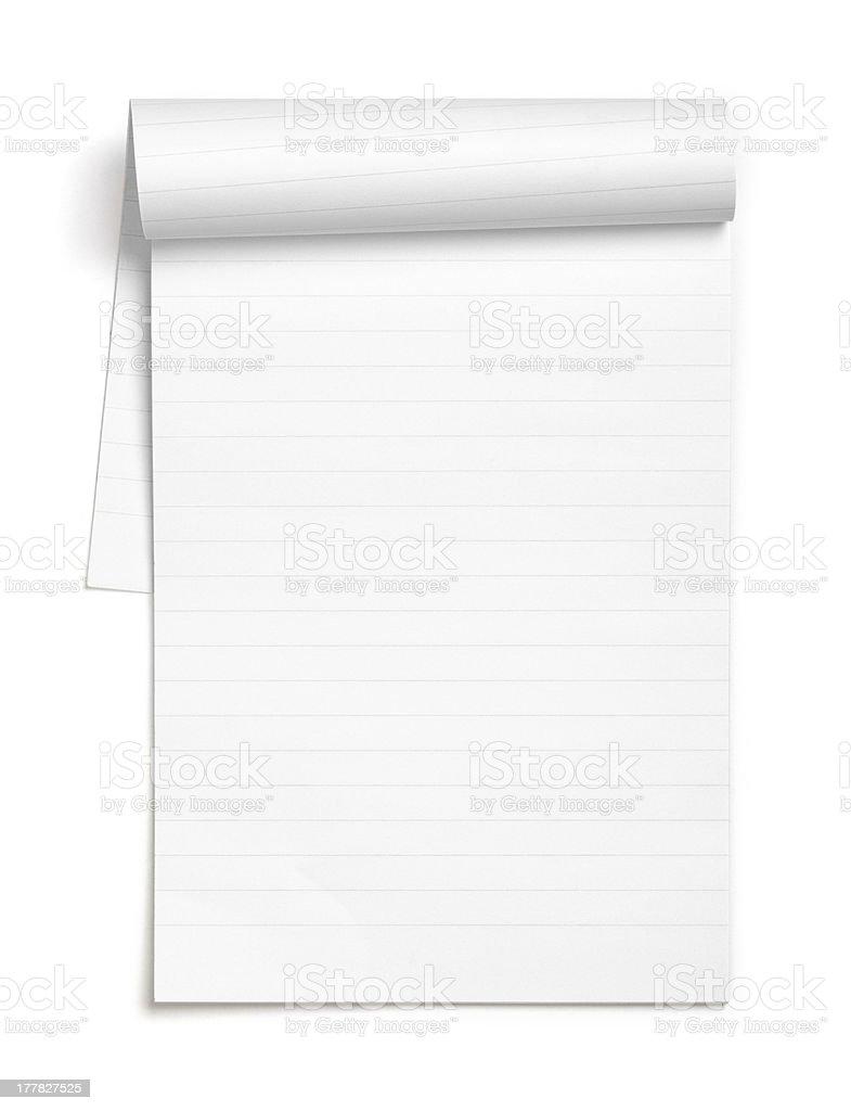 Empty note book stock photo