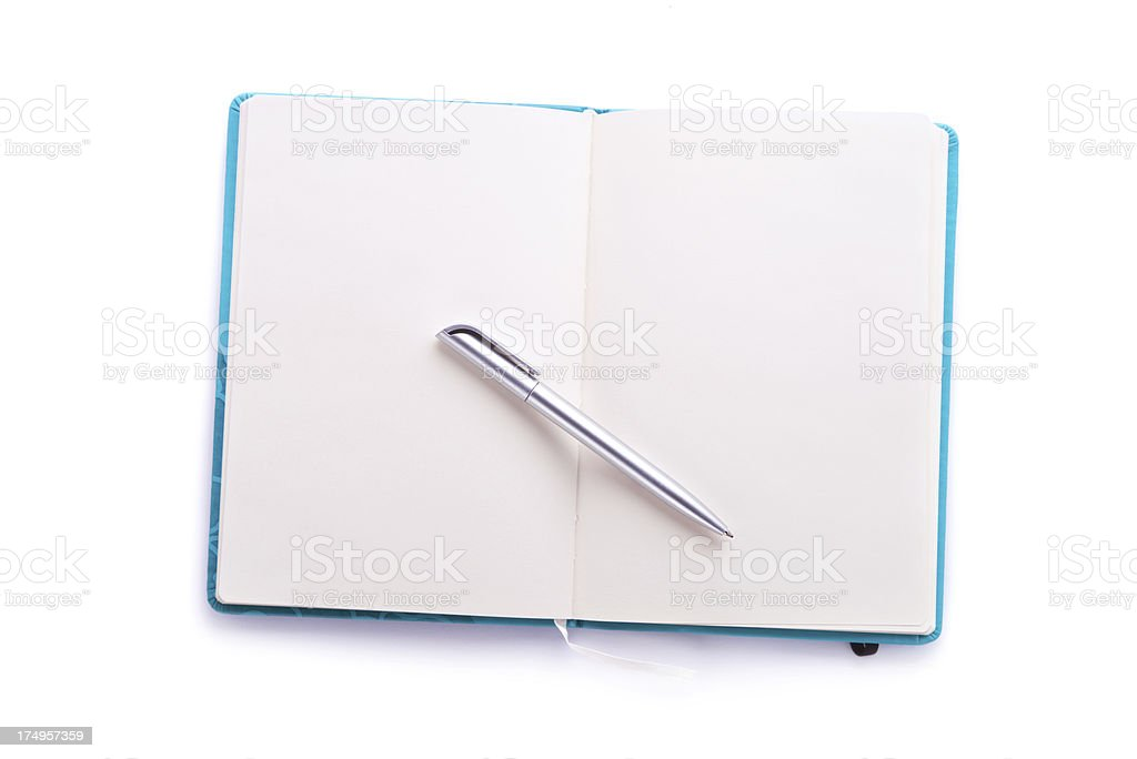 Empty note pad with pen royalty-free stock photo