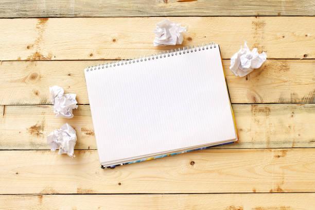 offen auf dem tisch leer notebook - planner inserts stock-fotos und bilder