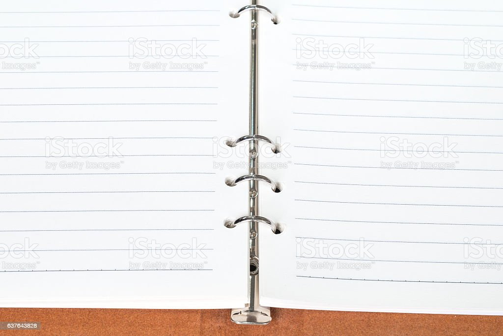 empty notebook (memo) open stock photo