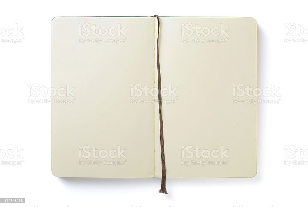 Empty notebook stock photo