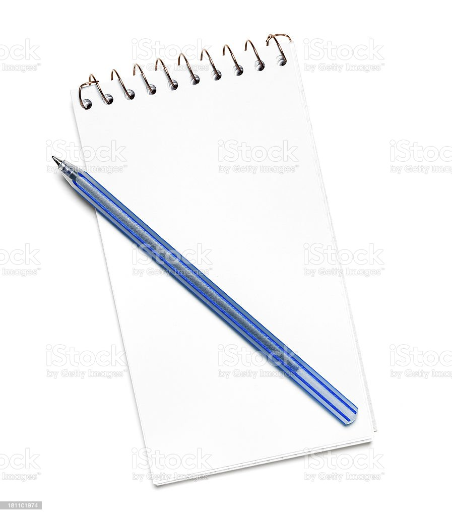 empty notepad and pen royalty-free stock photo