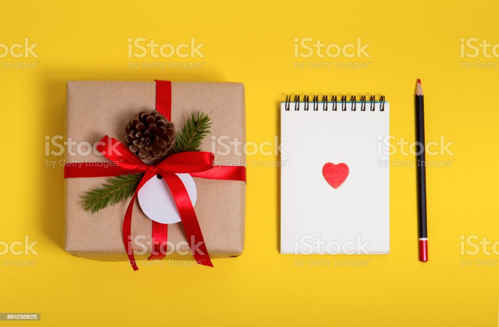 empty notepad with pen and red hearts royalty-free stock photo