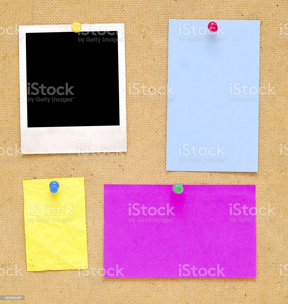 empty notes royalty-free stock photo