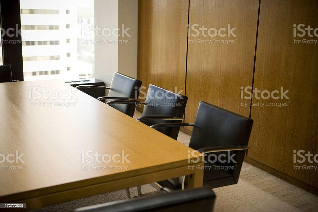 Empty office boardroom royalty-free stock photo