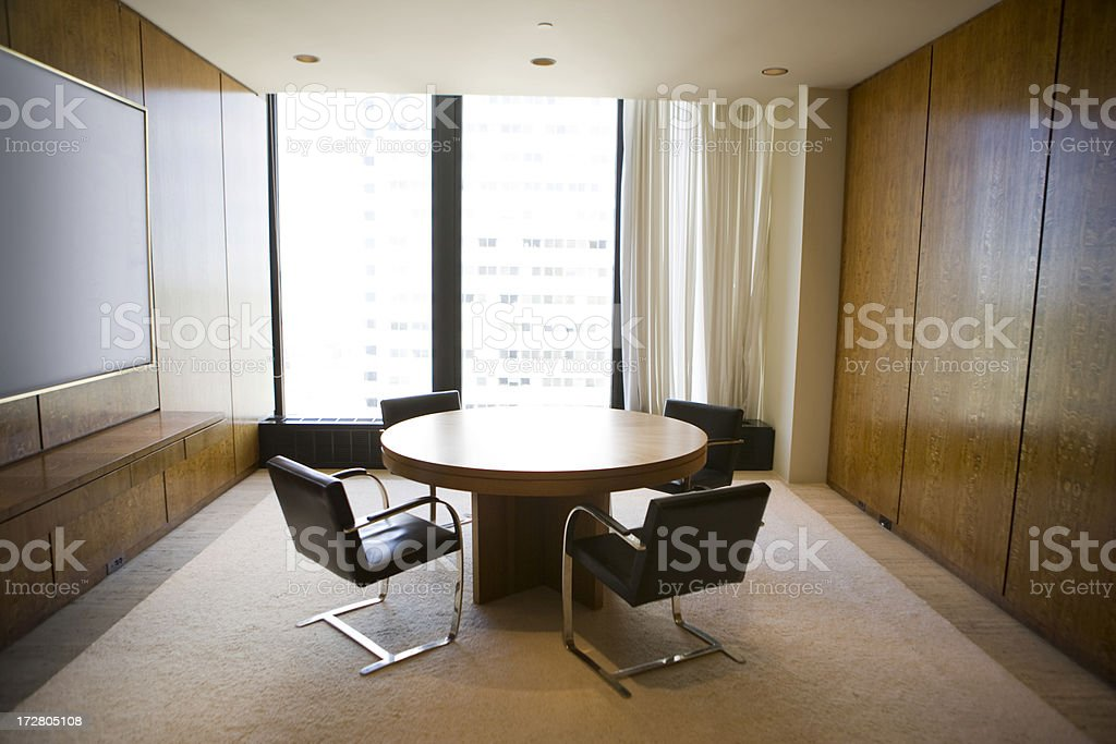 Empty office boardroom royalty-free stock photo