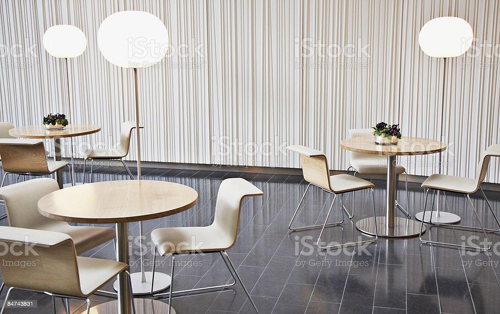 Empty office break room stock photo