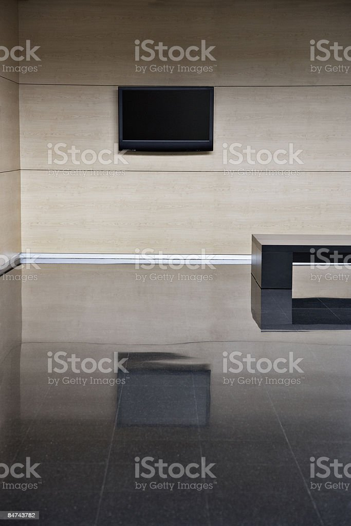 Empty office building lobby royalty-free stock photo