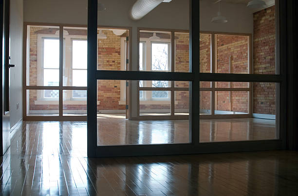 Empty Office Building stock photo