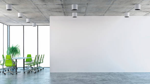 empty office interior - imobiliaria imagens e fotografias de stock