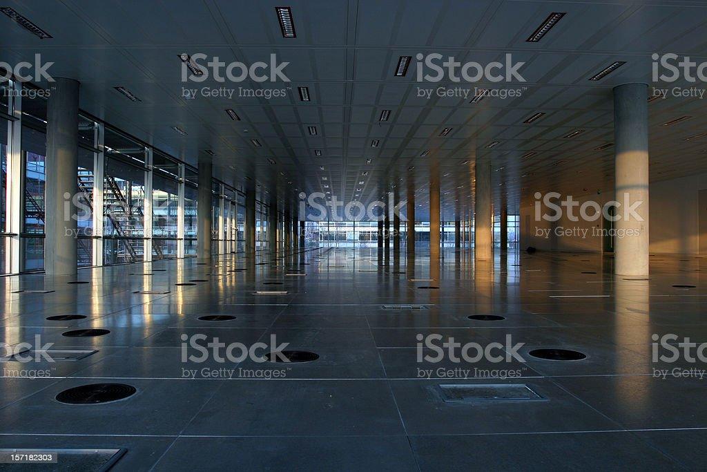 Empty office interior, wide angle stock photo