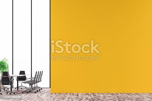 847512708 istock photo Empty office interior with conference table 2020 1200398535