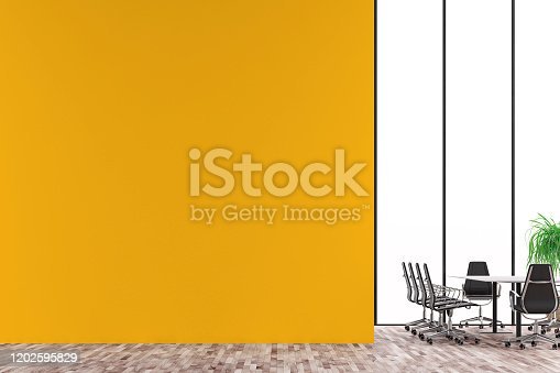 847512708 istock photo Empty office interior with conference table 2020 1202595829