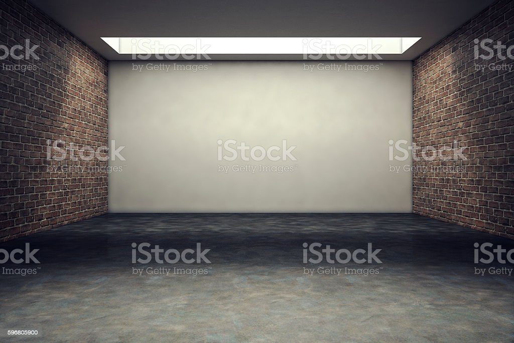 Empty office or studio room stock photo