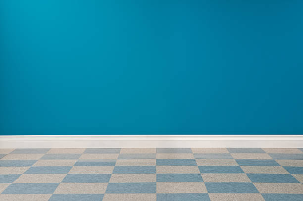 Empty Office Empty office with checkered linoleum floor. linoleum stock pictures, royalty-free photos & images