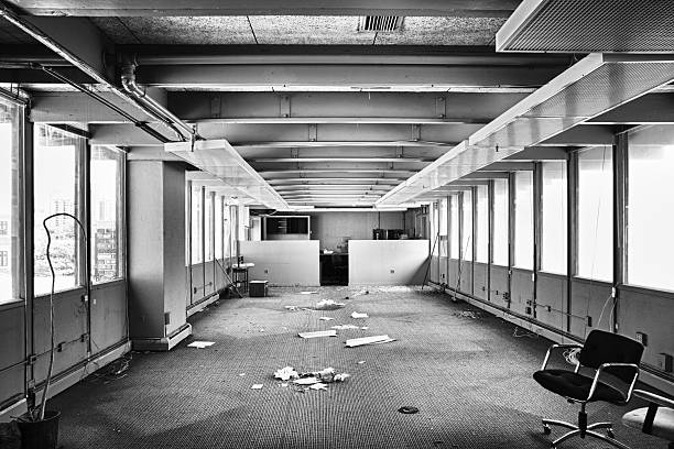 empty office - abandoned stock photos and pictures