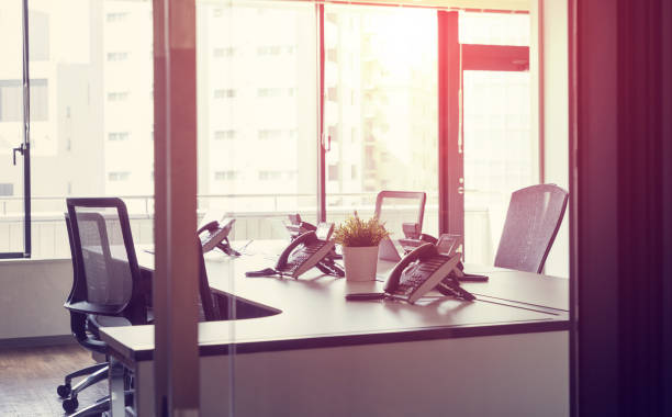 Empty office room concept. Empty office room concept. empty desk stock pictures, royalty-free photos & images