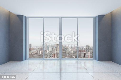 521806786 istock photo empty office room with window 688454120