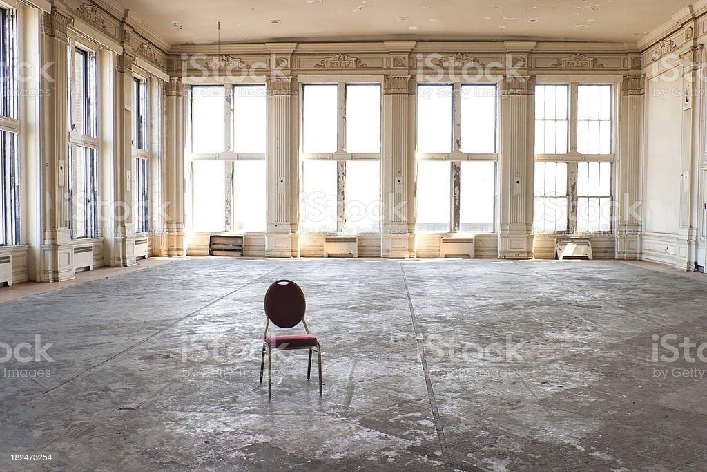 Empty old ballroom royalty-free stock photo