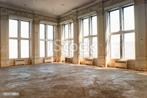 Vacant hotel or apartment ready for renovation