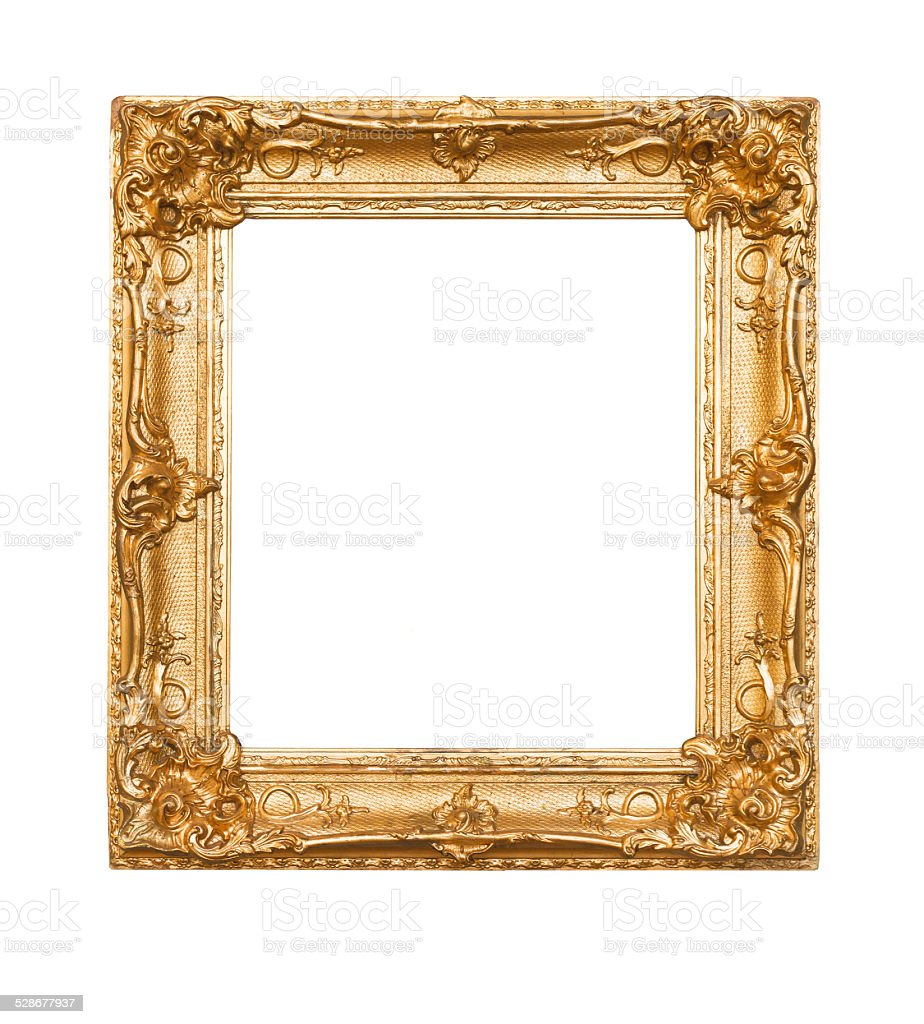 Empty old painting frame stock photo