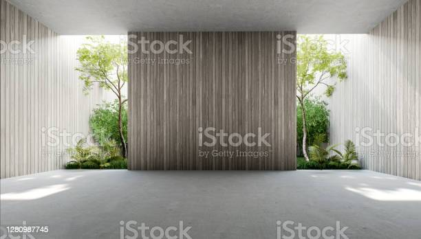 Empty Old Wood Plank Wall 3d Render Stock Photo - Download Image Now