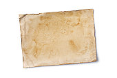 istock Empty old yellowed paper layout for vintage photo or postcard 1130632473
