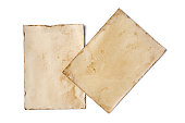 istock Empty old yellowed paper layout for vintage photos or postcards 1130632599