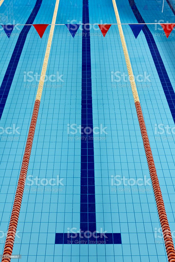 empty olympic swimming pool royalty free stock photo - Olympic Swimming Pool Lanes