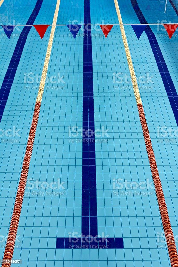 Empty Olympic Swimming Pool stock photo