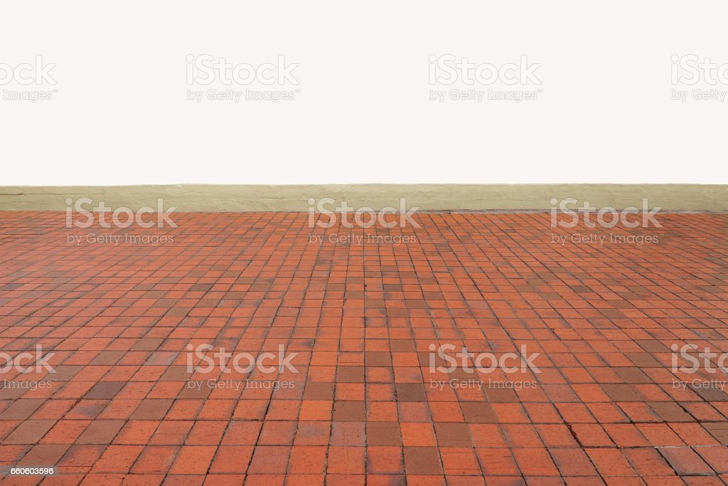 empty orange tiles floor pattern on eye view angle royalty-free stock photo