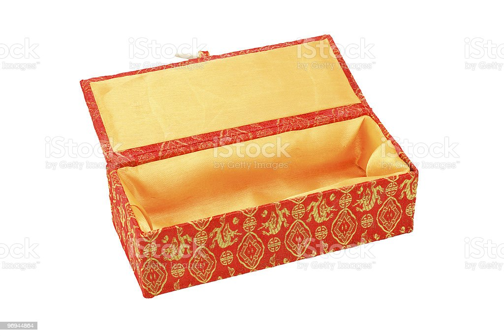 Empty oriental gift box royalty-free stock photo