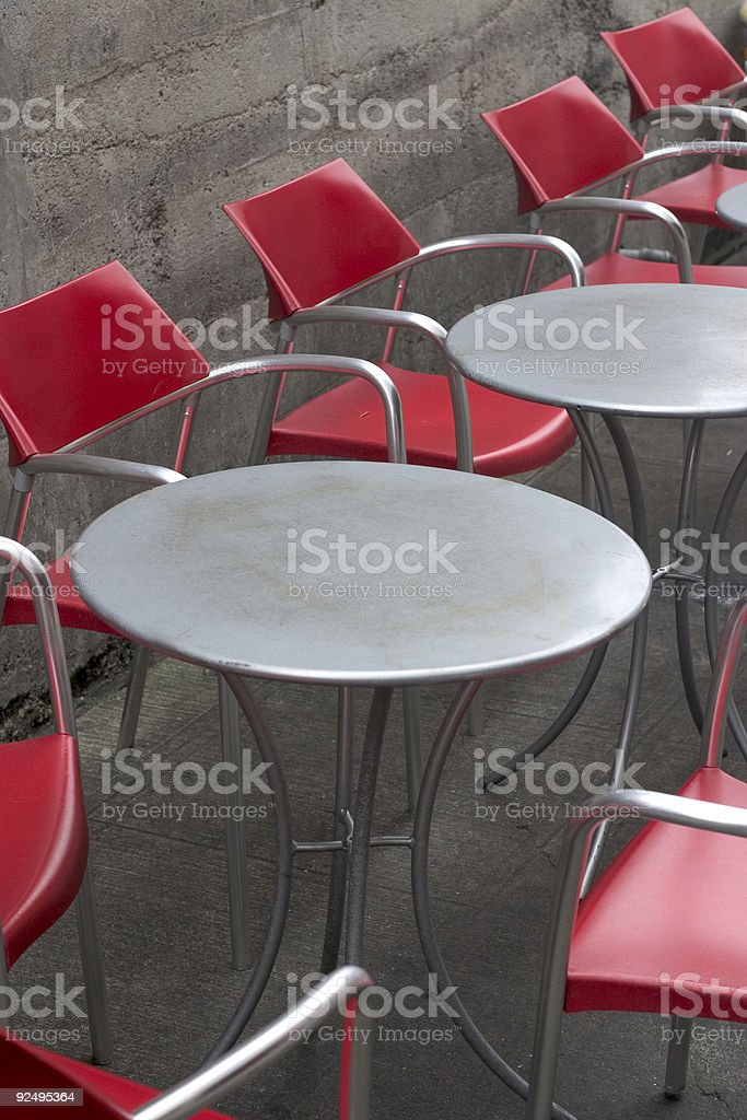 Empty Outdoor Cafe royalty-free stock photo