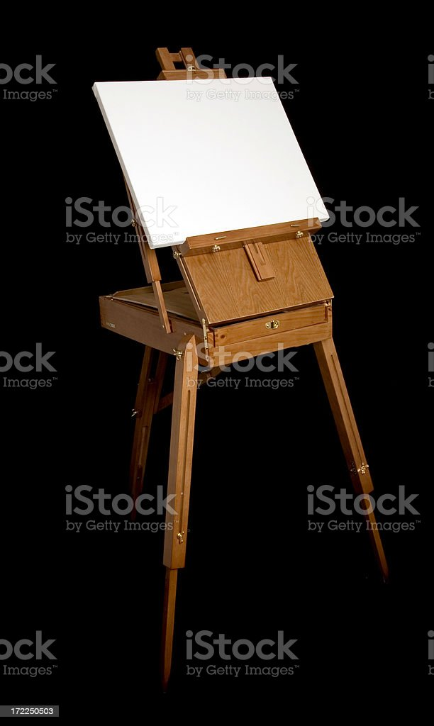 Empty painting on en easel royalty-free stock photo