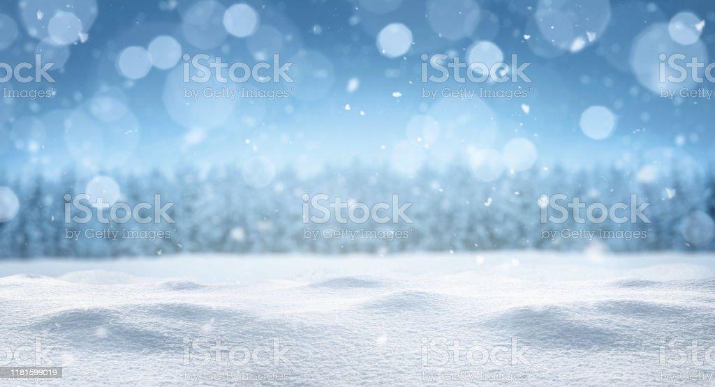 Fondo de invierno panorámico vacío - Foto de stock de Abeto libre de derechos