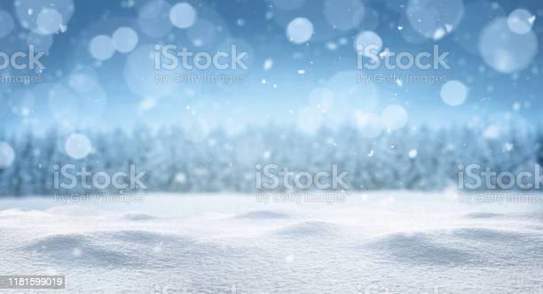 Photo of Empty panoramic winter background