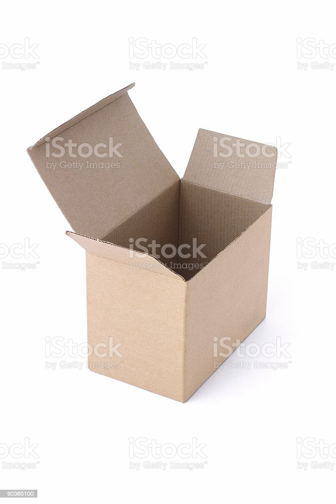 Empty paper box royalty-free stock photo