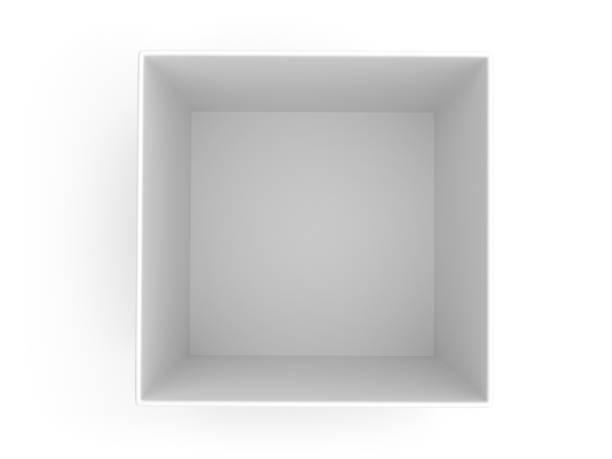 Empty paper box stock photo