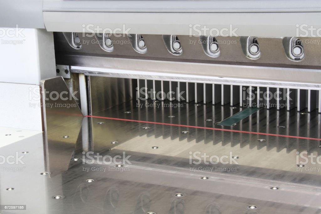 empty paper guillotine stock photo