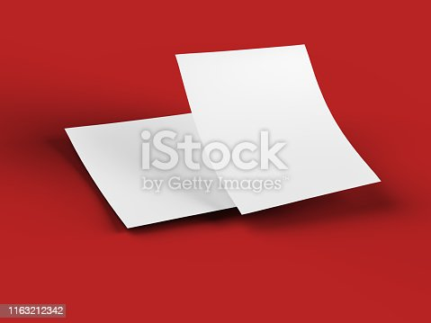 istock Empty paper sheet in A4 format 1163212342