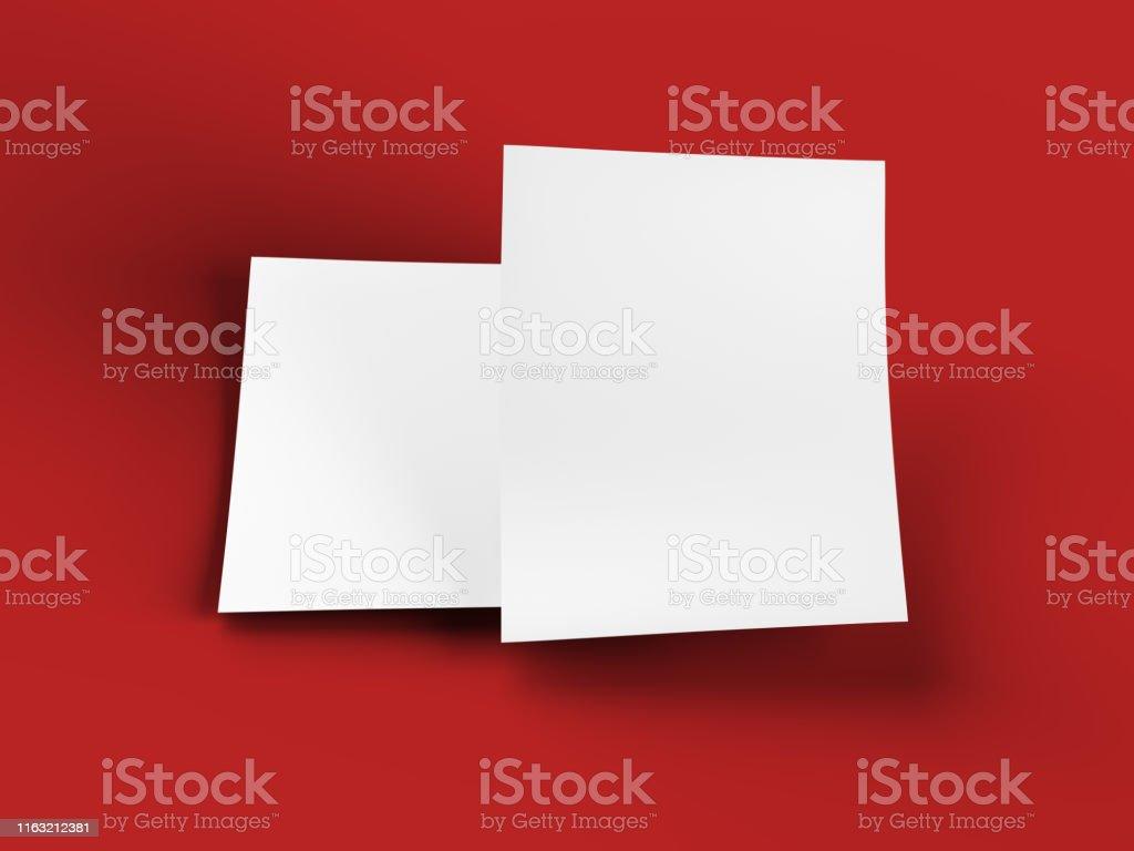 Empty paper sheet in A4 format - 3d illustration