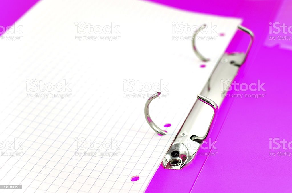 empty paper sheet in bright office folder royalty-free stock photo