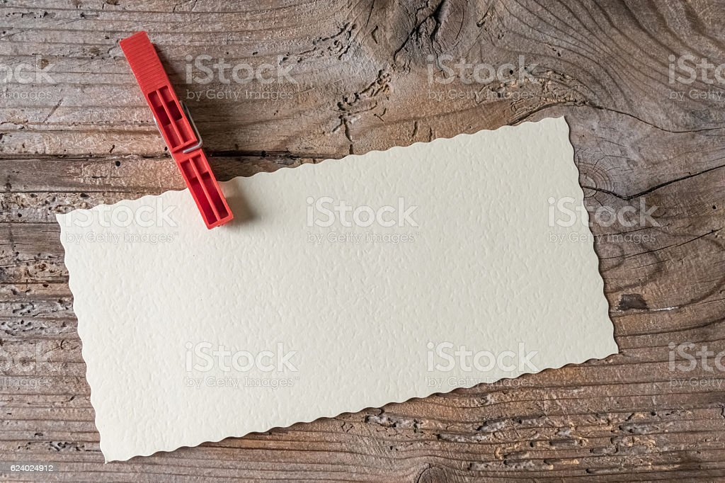 Empty paper sheet, top view stock photo