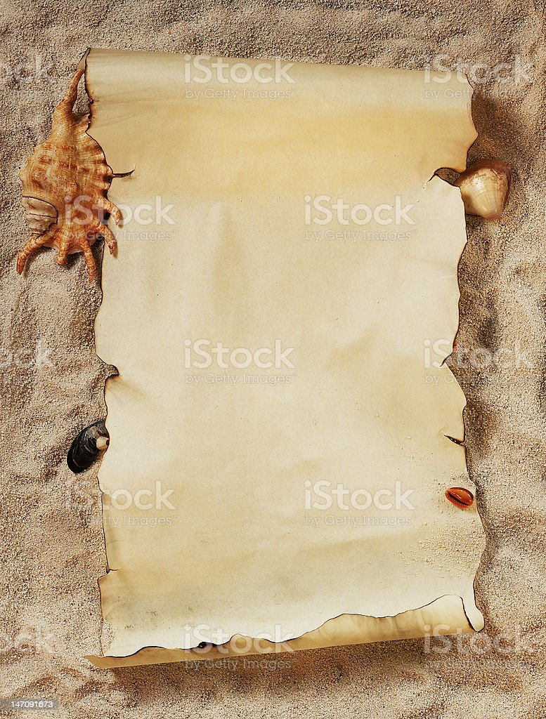 empty parchment royalty-free stock photo