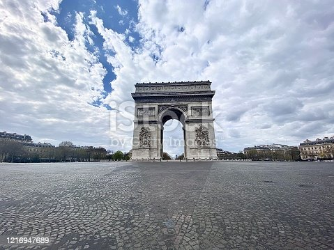 Empty Paris during COVID19 quarantine