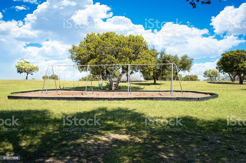 Empty Park Landscape stock photo