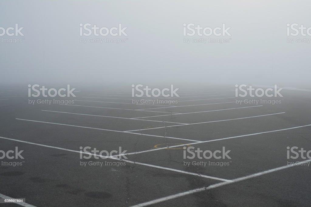 empty Parking fog stock photo
