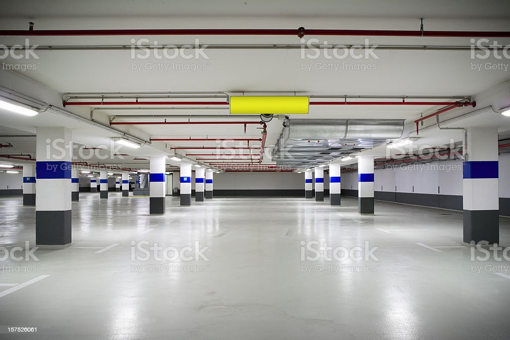 Empty parking garage royalty-free stock photo